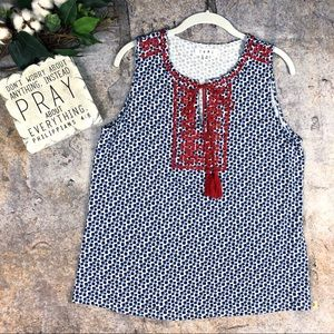 THML embroidered sleeveless top Sz  M